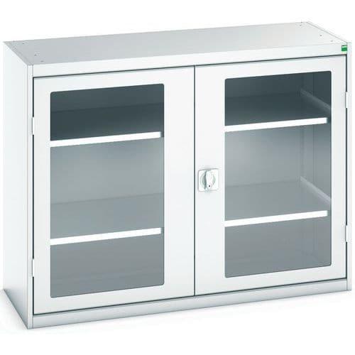 Portas transparentes do armário Verso com 2 prateleiras 1300x550x1000