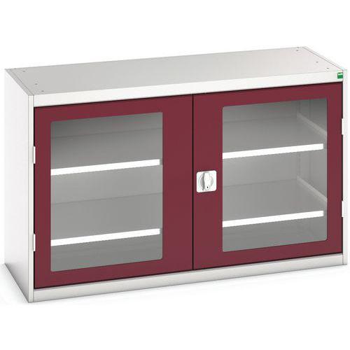 Portas transparentes do armário Verso com 2 prateleiras 1300x550x800