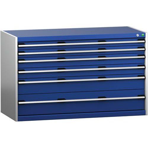 Armário de gavetas SL-1368-6.2 com 6 gavetas para carga pesada - BOTT