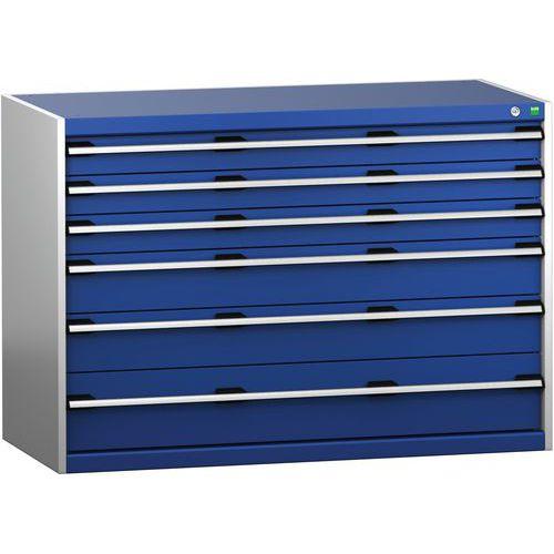 Armário de gavetas SL-1369-6.2 com 6 gavetas para carga pesada - BOTT