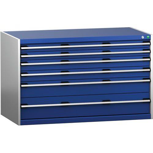 Armário de gavetas SL-1378-6.4 com 6 gavetas para carga pesada - BOTT
