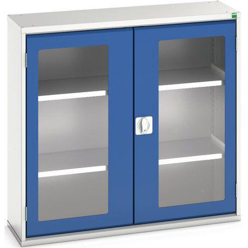 Portas transparentes do armário Verso com 2 prateleiras 1050x350x1000