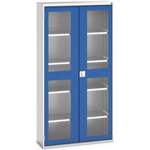 Portas transparentes do armário Verso com 4 prateleiras 1050x350x2000