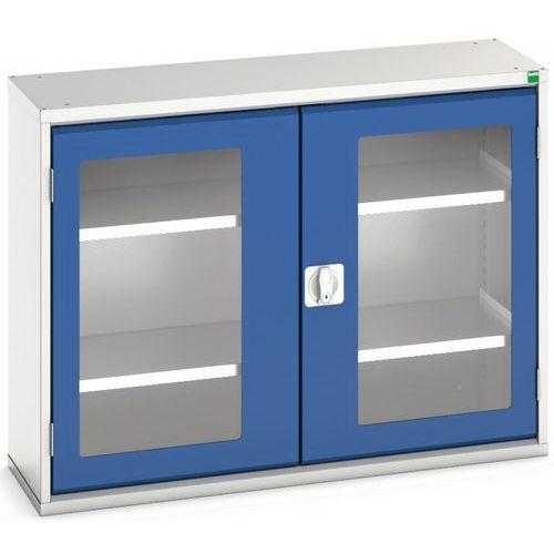 Portas transparentes do armário Verso com 2 prateleiras 1050x350x800