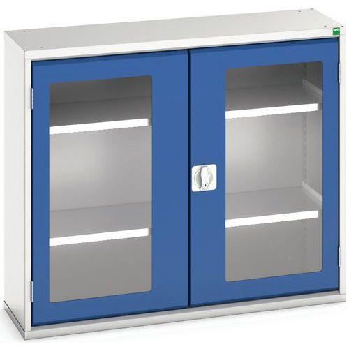 Portas transparentes do armário Verso com 2 prateleiras 1050x350x900