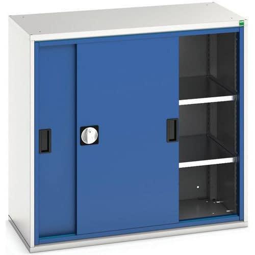 Portas deslizantes de Verso do vestuário com 2 prateleiras 105x55x100