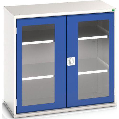 Portas transparentes do armário Verso com 2 prateleiras 1050x550x1000