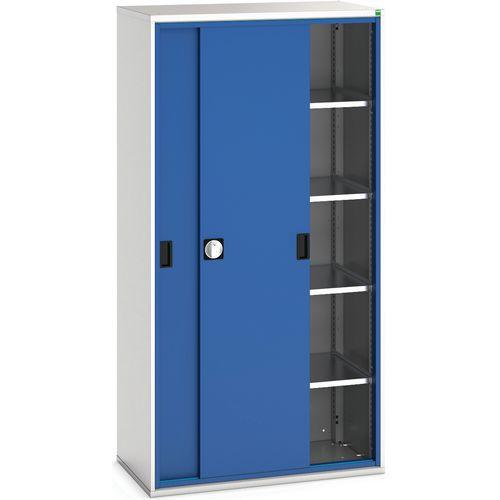 Armário traseiro das portas deslizantes com 4 prateleiras 105x55x200