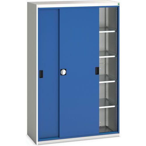 Portas deslizantes de Verso do vestuário com 2 prateleiras 130x55x200