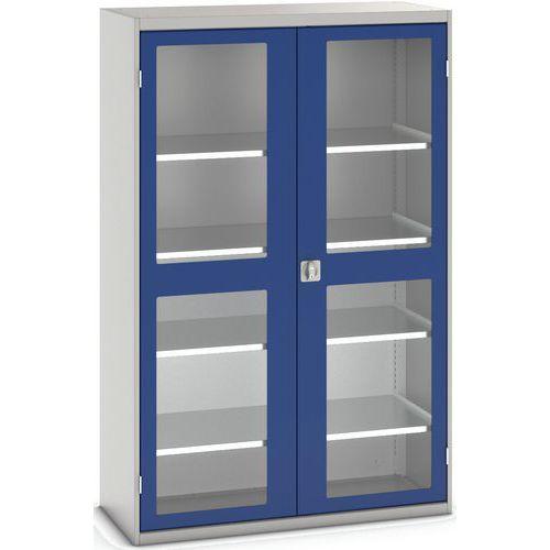 Portas transparentes do armário Verso com 4 prateleiras 1300x550x2000