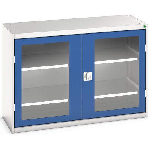 Portas transparentes do armário Verso com 2 prateleiras 1300x550x900