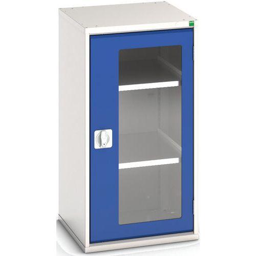 Portas transparentes do armário Verso com 2 prateleiras 525x550x1000