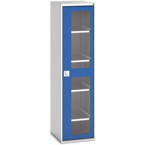 Portas transparentes do armário Verso com 4 prateleiras 525x550x2000