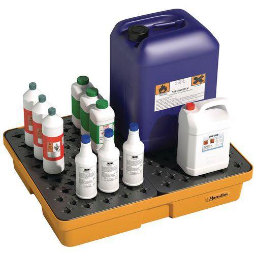 Caixa de retenção para laboratório - 60 L - Manutan