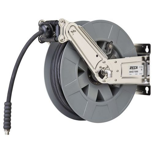 Enrolador de mangueira de ar/água de baixa pressão em aço inoxidável – Zeca