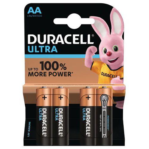 Pilhas alcalinas Duracell Ultra Power AA LR6 – conjunto de 4