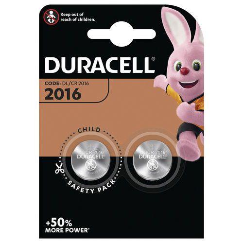 Pilha de botão de lítio CR2016 – conjunto de 2 – Duracell