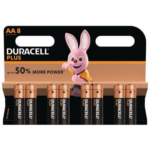 Pilhas alcalinas Duracell Plus Power AA LR6 -– conjunto de 8