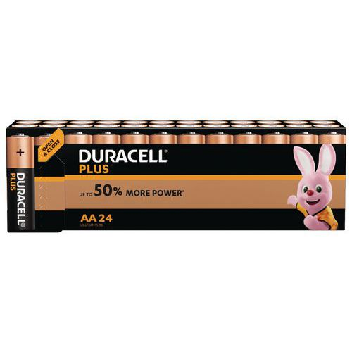 Pilha alcalina Duracell Plus Power AA LR6 – conjunto de 24