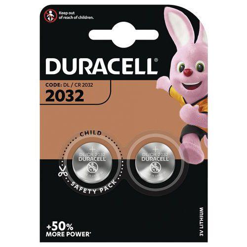 Pilha de botão de lítio CR2032 – conjunto de 2 – Duracell