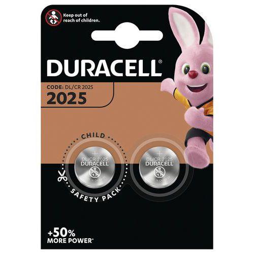 Pilha de botão de lítio 2025 Duracell