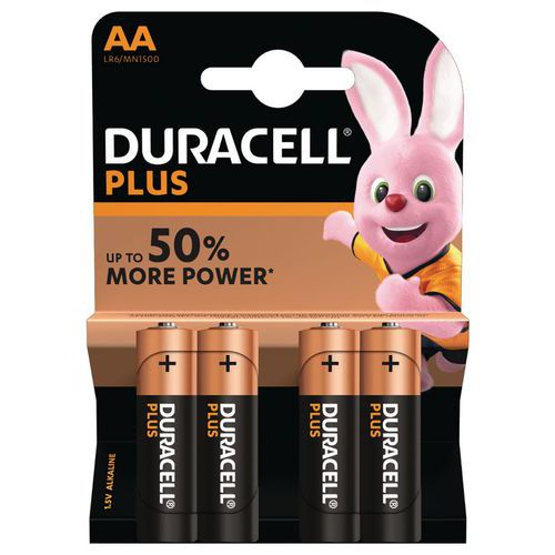 Pilha alcalina Duracell Plus Power AA LR6 – conjunto de 4