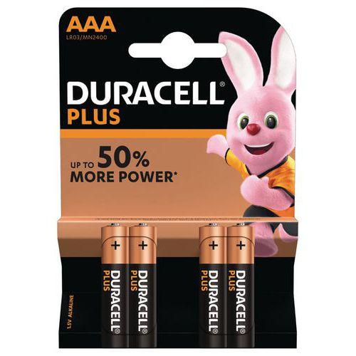 Pilha alcalina Duracell Plus Power AAA LR3 – conjunto de 4