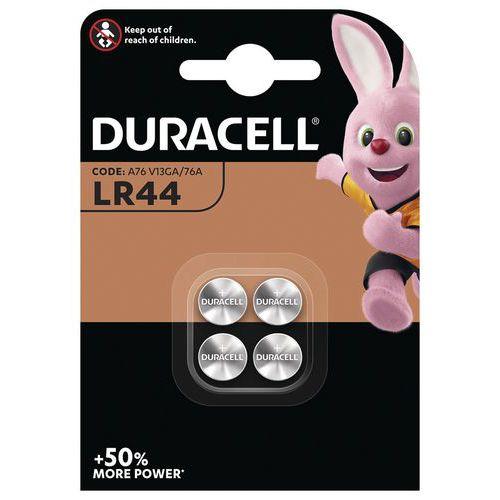 Pilha de botão alcalina LR44 – conjunto de 4 – Duracell