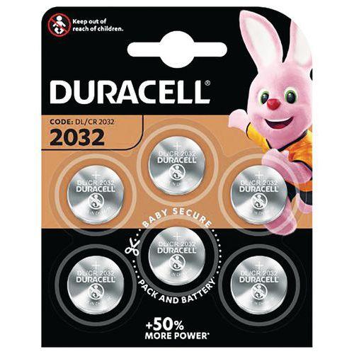 Pilha de botão de lítio 2032 – conjunto de 6 – Duracell