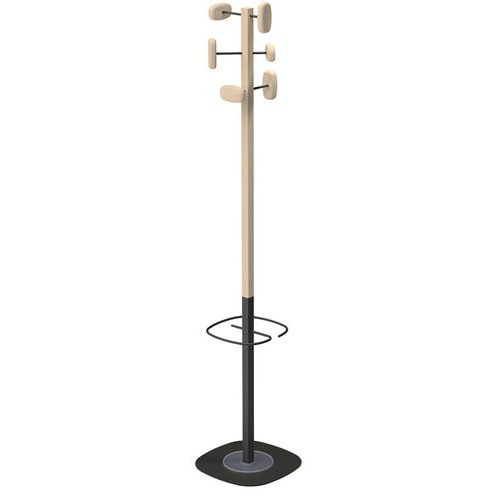 Bengaleiro em espiga com suporte para guarda-chuvas Sherwood – bimaterial