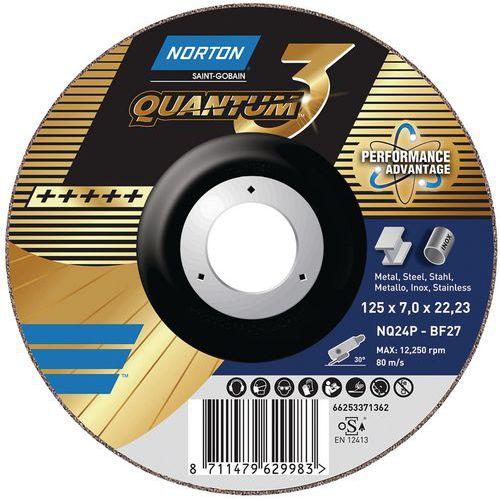 Disco de rebarbagem Quantum 3 Metal – Norton