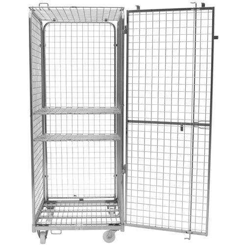 Contentor móvel de segurança – 2 prateleiras – capacidade de 400kg – Manutan