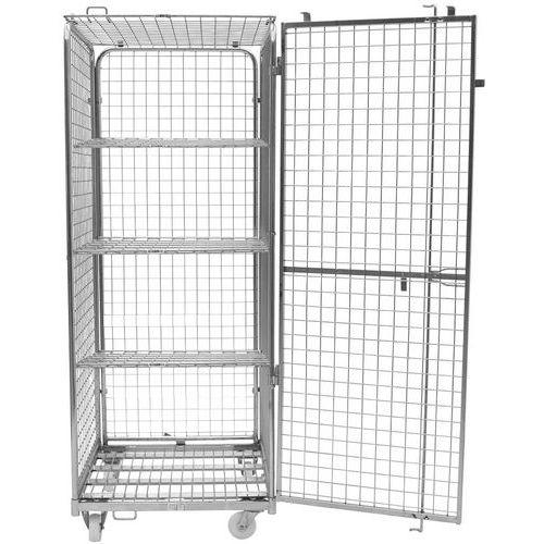 Contentor móvel de segurança – 3 prateleiras – capacidade de 400kg – Manutan