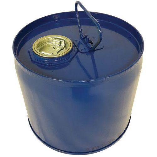 Bidão de aço, 6L, azul, com 2 bujões, interior envernizado, epóxi