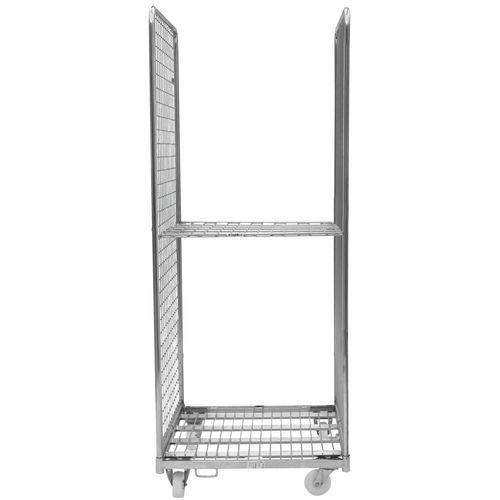 Contentor móvel com 2 lados e 1 prateleira – capacidade de 400kg – Manutan