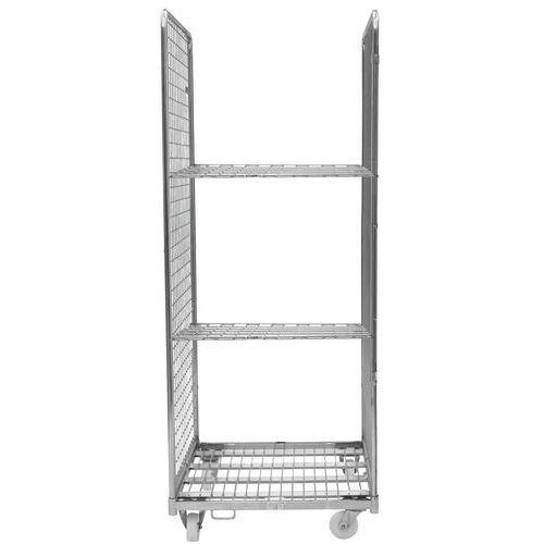 Contentor móvel com 2 lados e 2 prateleiras – capacidade de 400kg – Manutan