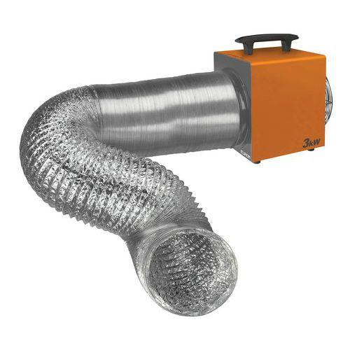 Conduta flexível de 5 metros – Heat-Duct Pro – 3,3kW e 9kW – Eurom
