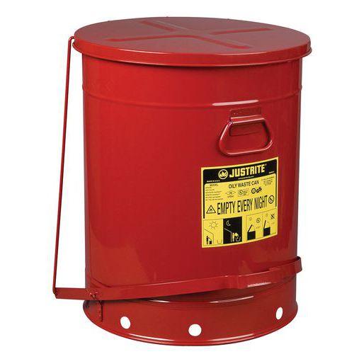 Bidão para resíduos oleosos em vermelho 80L – Justrite