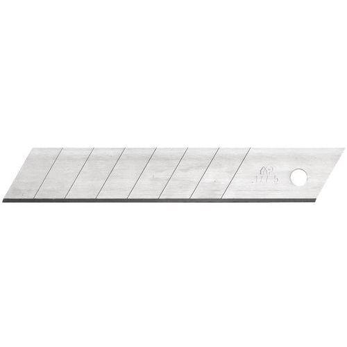 Lâmina para faca segurança de 18mm com 7 pré-ruturas em aço superior – Mure et Peyot