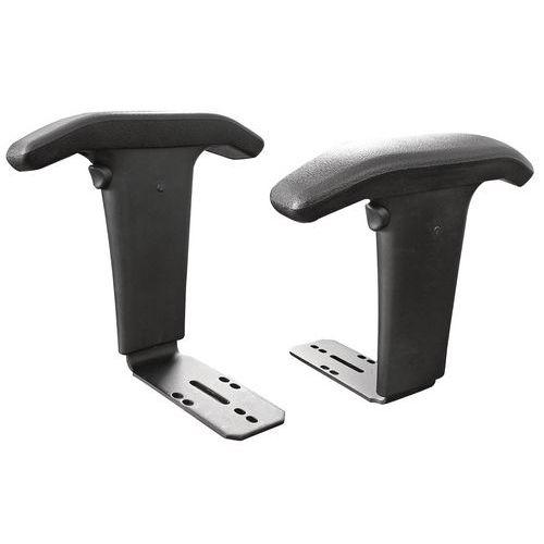 Conjunto de 2 apoios para braços para cadeira de oficina Tecno