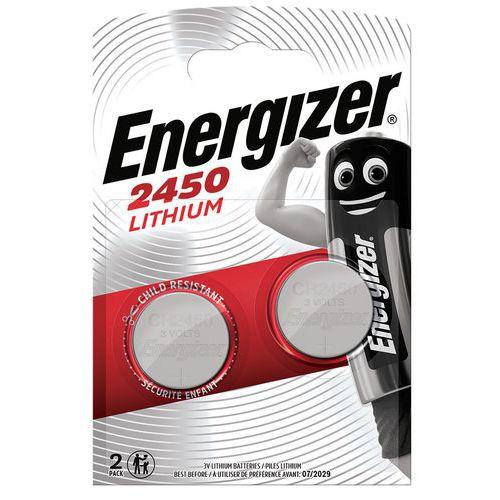 Pilha de botão – CR2450 – 3V – conjunto de 2 – Energizer