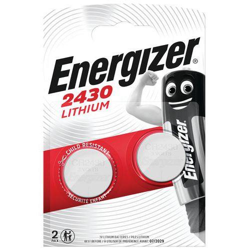 Pilha de botão – CR2430 – 3V – conjunto de 2 – Energizer