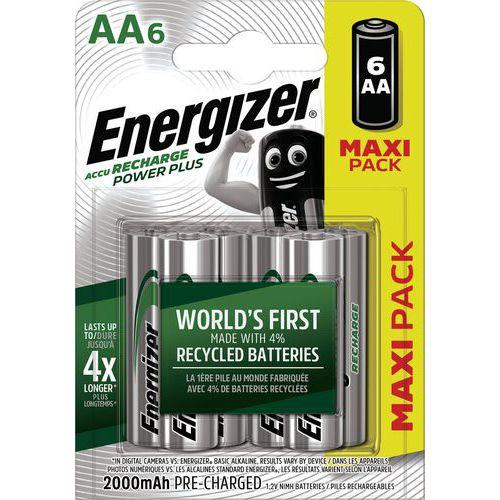 Pilha pré-carregada Power Plus AA – 2000mAh – conjunto de 6 – Energizer