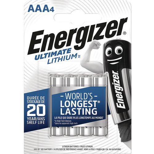 Pilha de lítio Ultimate – AAA/LR03 – 1,5V – conjunto de 4 – Energizer