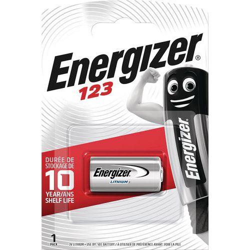 Pilha de lítio para aparelhos eletrónicos – 123 – Energizer