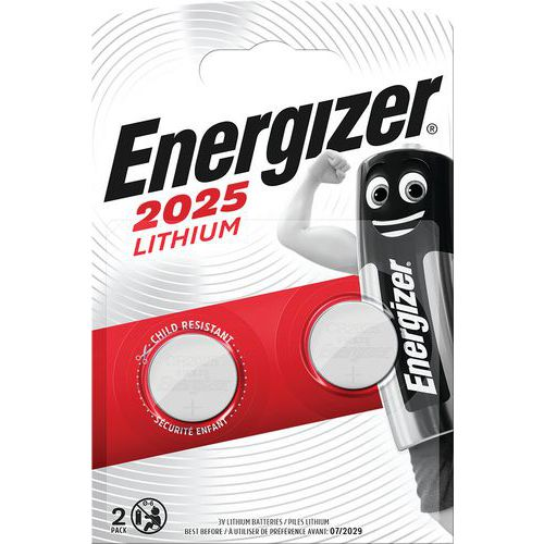 Pilha de lítio para calculadoras – CR2025 – conjunto de 2 – Energizer