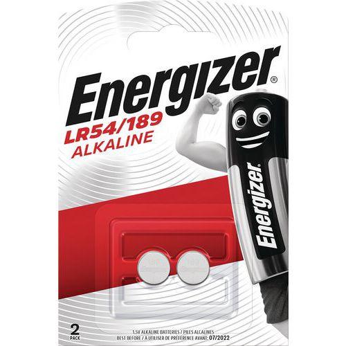 Pilha alcalina multifunções para calculadoras, relógios, entre outros – LR54 – conjunto de 2 – Energizer