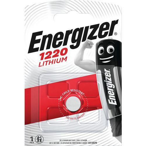 Pilha de lítio multifunções para calculadoras, relógios, entre outros – CR1220 – Energizer