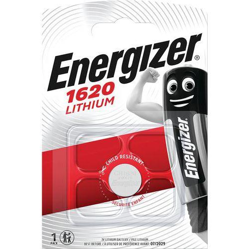 Pilha de lítio multifunções para calculadoras, relógios, entre outros – CR1620 – Energizer