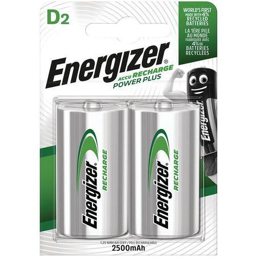 Pilha alcalina recarregável – D/LR20 – conjunto de 2 – Energizer